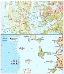 Uta Map Map Of The Raunefjord On The West Coast Of Norway Insert Shows The