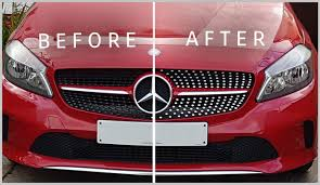 diamond car mercedes w176 cla front grill chrome sports stickers