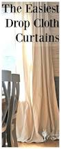 the easiest drop cloth curtains home decoration pinterest
