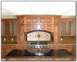Kitchen Cabinets With Glass Inserts Kitchen Cabinet Etched Glass Inserts Monsterlune