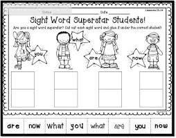 54 best pk sight words images on pinterest sight word