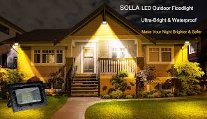 Flood Lights For Backyard by Solla 30w Led Flood Light Outdoor Security Lights 2250lm Warm