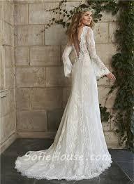 vintage wedding dresses for sale vintage mermaid scalloped neck low back sleeve lace wedding dress