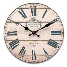 adina wall clock working shabby chic decor 34205 ebay