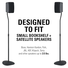 Bookshelf Speaker Design Sanus Adjustable Height Speaker Stands With Universal Design For
