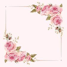 wedding flowers background vector watercolor painted pink wedding flowers border background