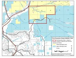 Blm Maps Blm Issues Fire Prohibition For Public Lands Near Gilmore Trail