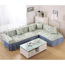 canapé l vercart canape l shape sofa throw cover polyester blue angle