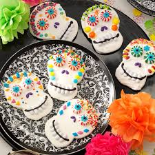 Decorated Halloween Sugar Cookies by Day Of The Dead Cookies Recipe Taste Of Home