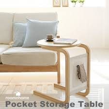 side table with laptop storage qoo10 pocket storage table end table side table furniture sofa