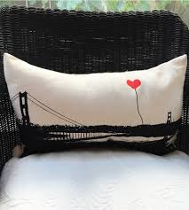 golden gate bridge rectangular pillow home decor u0026 lighting