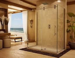 yellow paint wall decorating ideas half glass shower door bathtub