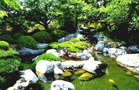 luxury home japanese garden pond designs features stone borders
