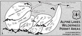 Lake Washington Map by Enchantments