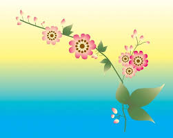 Blue Flower Backgrounds - blue yellow pink flower powerpoint templates blue yellow pink