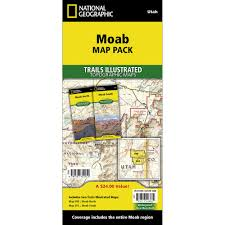 Map Of Moab Utah by Moab Trail Map Pack Bundle National Geographic Store