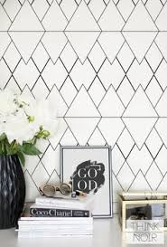 black and white geometric wallpaper geometric pattern removable