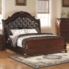 brown leather headboard queen headboards for queen bed modern bedroom design with white