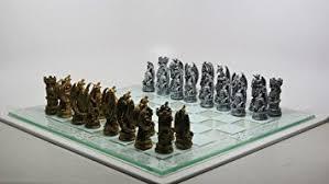 fantasy chess set amazon com fantasy dragon chess set toys games
