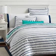 ticking stripe comforter navy and white striped comforter comforter ideas