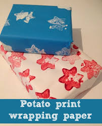 christmas wrapping paper fundraiser potato print wrapping paper potato print and wrapping papers