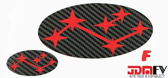 subaru emblem black classic precut emblem overlays front 97 01 gc 2 5rs jdmfv by