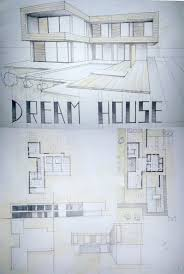 Modern Architecture Home Plans by Modern House Drawing Perspective Floor Plans Design Architecture