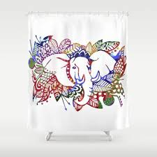 30 best elephant shower curtain images on pinterest elephant
