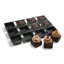 square cupcakes norpro 3998 nonstick 12 cavity linking brownie muffin