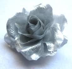 silver flowers silver flower hair clip