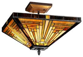Craftsman Style Ceiling Light Manificent Decoration Craftsman Ceiling Light Innes 2 Mission Semi