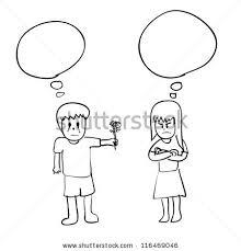 man women blank talk bubble sketch stock vector 116469046