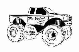 mr bigfoot monster truck coloring page for kids transportation