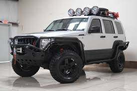 jeep liberty lifted custom lifted jeep liberty 4x4 tow winch blk rims low