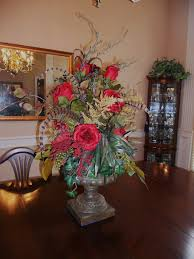 dining room table centerpiece various beautiful flowers in glass jar as the dining room table