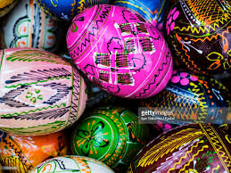 easter eggs for sale frame of patterned easter eggs for sale stock photo