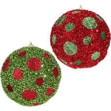 raz large polka dot ornaments raz imports