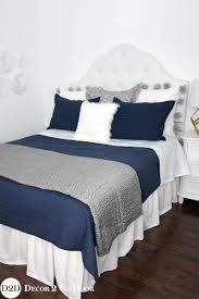 Bedding Collections Navy Grey U0026 White Custom Designer Bedding Collection