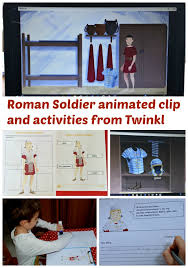 animated clip of a roman soldier by twinkl ofamily learning together
