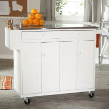 furniture home neutral movable kitchen islands vintage steel add