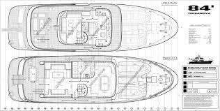 Luxury Yacht Floor Plans Terranova 85 Layout Terranova Yachts Motor Superyachts Com