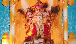 Home Ganpati Decoration Beauty Of Ganesh Decorations At Home Ganpati Tv