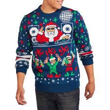 santa sweater dj santa big s sweater 2xl walmart com