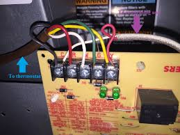 electrical thermostat where do the two wires from condenser go
