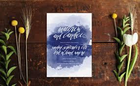 watercolour wedding invitations navy ink sail and swan