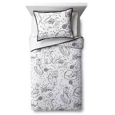 Kitten Bedding Set Cat Chat Comforter Set Black U0026white Pillowfort Target