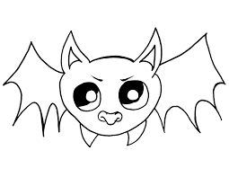 Easy Halloween Drawings For Kids by Halloween Bat Drawings How To Draw A For Kids Step 5 1