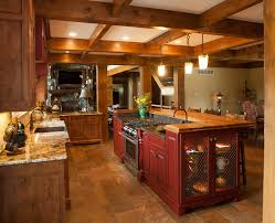 rustic kitchen made with knotty alder wood kitchens pinterest