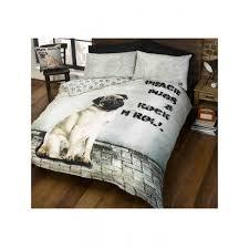 Dog Duvet Covers Peace Pugs U0026 Rock N Roll Single Duvet Cover Set