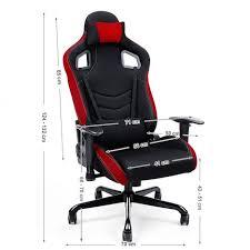 coussin de bureau fauteuil de bureau sport à hauteur réglable tissu noir avec